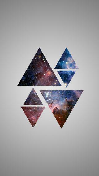 Обои на телефон формы, современные, треугольник, галактика, абстрактные, galaxy