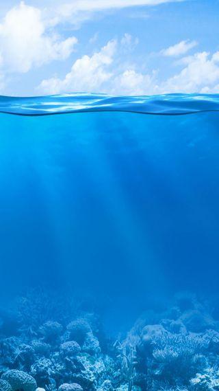 Обои на телефон под, вода