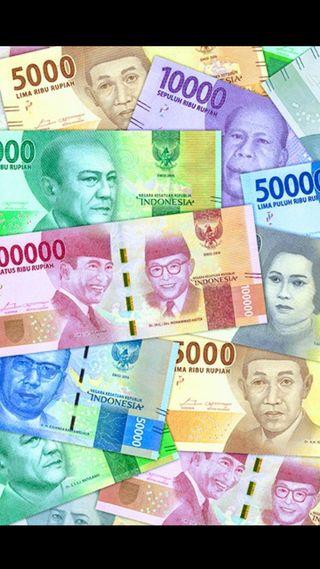 Обои на телефон деньги, rupiah baru, indonesian