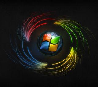 Обои на телефон цветные, сияющие, светящиеся, неоновые, логотипы, windows, vista