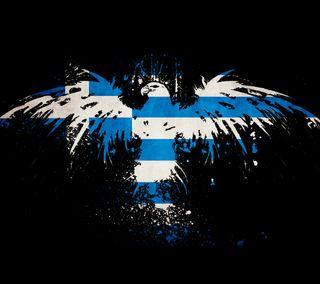 Обои на телефон греция, флаг