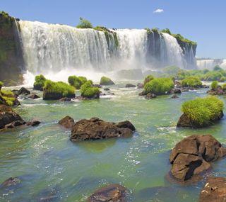 Обои на телефон водопад, природа, вода, hd