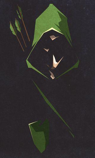 Обои на телефон стрела, зеленые