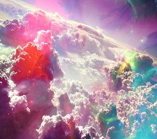 Обои на телефон сумасшедшие, цветные, облака, небо, космос, звезда, crazy clouds