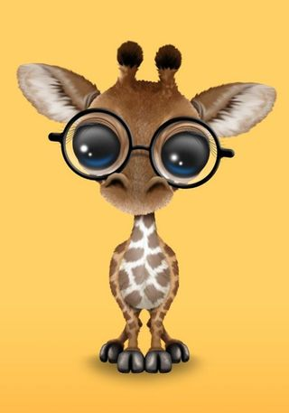 Обои на телефон жираф, животные, милые