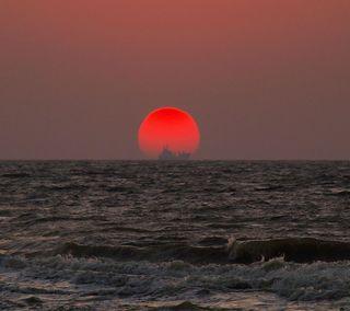 Обои на телефон вечер, пляж, небо, красые, красочные, закат, oceanwaves, hd, 3д, 3d, 2013
