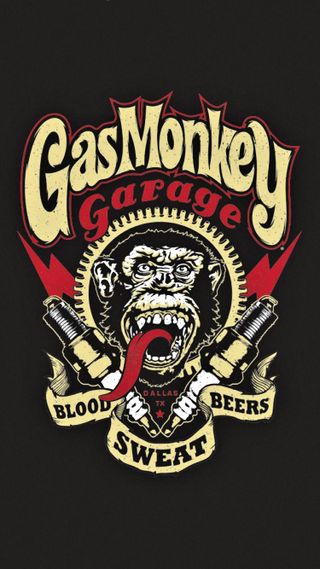 Обои на телефон обезьяны, машины, команда, гараж, газ, gas monkey