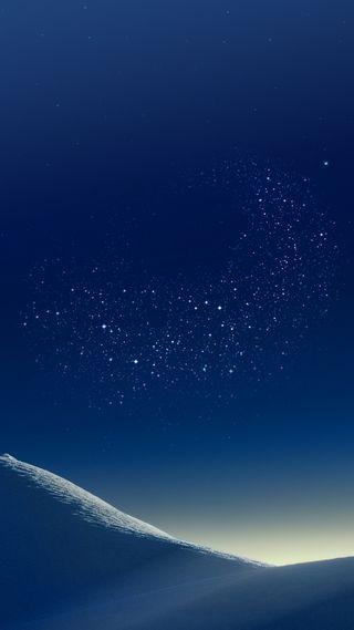 Обои на телефон стандартные, стена, синие, пустыня, песок, ночь, звезды, галактика, s8plus, s8, galaxy s8