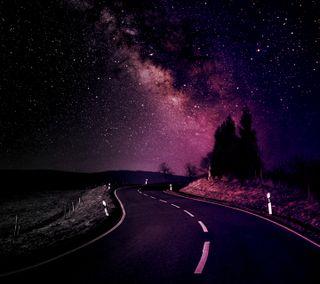 Обои на телефон пейзаж, дорога, вечность