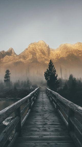 Обои на телефон путь, одинокий, мост