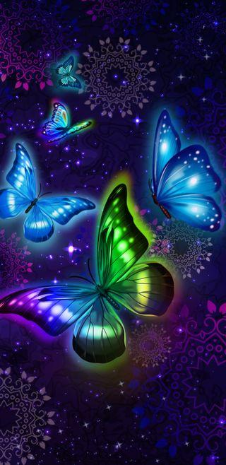 Обои на телефон туманность, девчачие, симпатичные, прекрасные, космос, звезды, звезда, галактика, волшебные, бабочки, galaxy