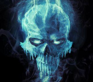 Обои на телефон холод, череп, холодное, ужасы, смерть, мертвый, лед, кристалл, голова