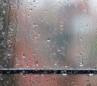 Обои на телефон окно, капли, дождь, вода, hd