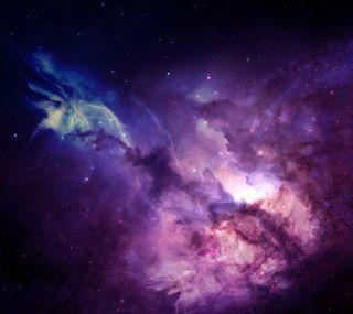 Обои на телефон туманность, фиолетовые, космос, звезды