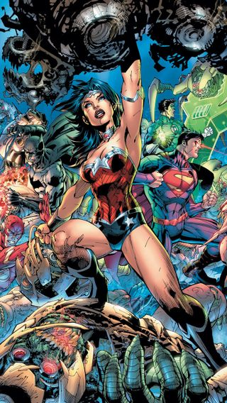 Обои на телефон чудо, герои, супермен, справедливость, лига, женщина, бэтмен, dc