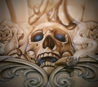 Обои на телефон скелет, череп, ужасы, темные, страшные, жуткие, дым, готические, one more