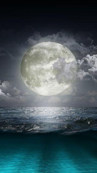 Обои на телефон креативные, луна