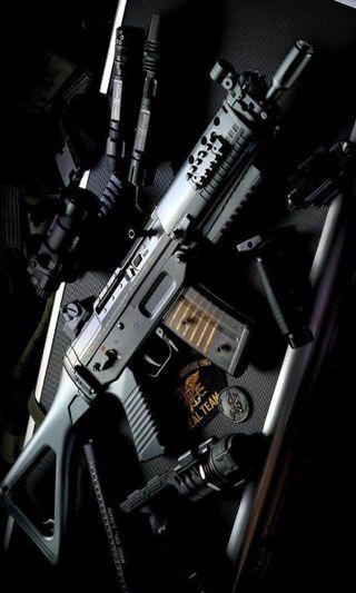 Обои на телефон оружие, военные, koch, heckler, g36