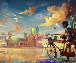 Обои на телефон хвост, сказочные, красочные, fairy tail cyclist, cyclist