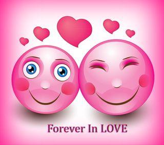 Обои на телефон навсегда, цветные, сердце, розовые, милые, любовь, абстрактные, smileys, love
