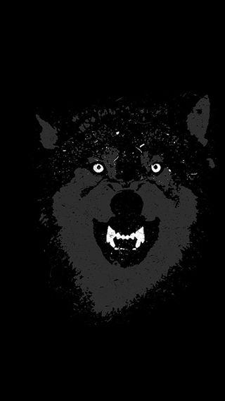 Обои на телефон темные, волк, wolf dark, jgr