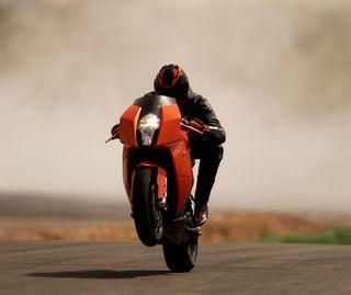 Обои на телефон скорость, оранжевые, ктм, гоночные, гонка, байк, wheelie, stunt, duke