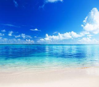 Обои на телефон пляж, море