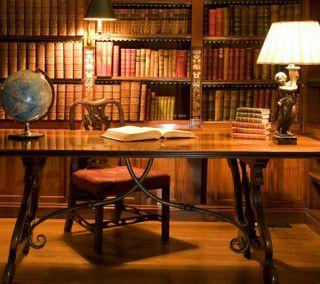 Обои на телефон книга, античный, library