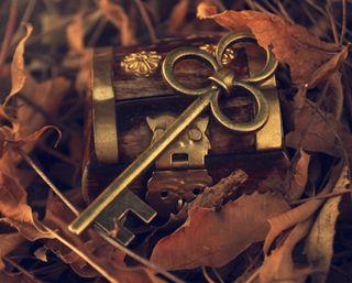 Обои на телефон ключ, осень, листья, leaves keys