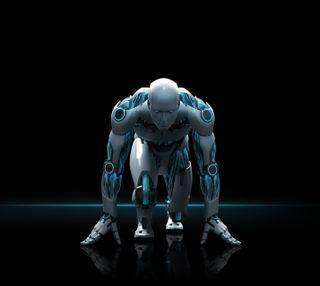 Обои на телефон робот, приятные, robot auntivirus, antivirus