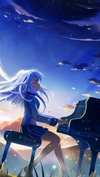 Обои на телефон пианино, девушки, аниме