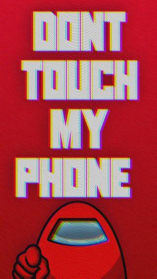 Обои на телефон трогать, игровые, телефон, не, мой, игры, геймер, видео игра, амонгас, амонг, impostor, dtpm among us, crewmate, among us wallpaper