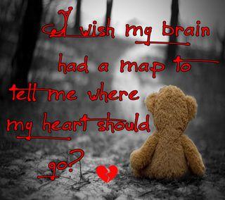 Обои на телефон эмо, чувства, сломанный, сердце, приятные, правда, мой, мозг, любовь, карта, my brain, love, go