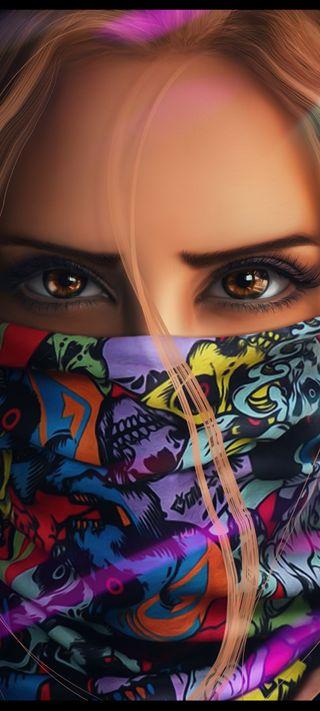 Обои на телефон коричневые, смайлики, приятные, маска, люди, девушки, глаза, brown eyes, 2021
