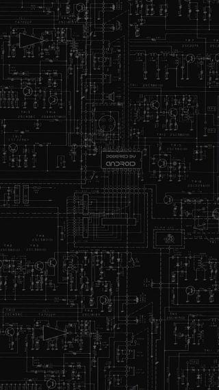 Обои на телефон технология, черные, технологии, темные, внутри, андроид, powered, motherboard, circuitry, android inside, android, 929