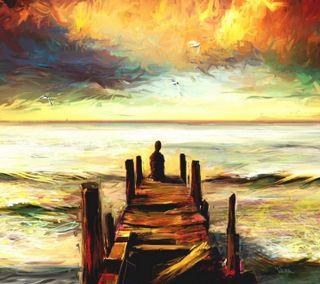 Обои на телефон рисунки, прекрасные, море, beautiful sea