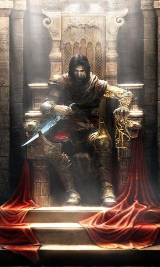 Обои на телефон черные, трон, свет, принц, игра, видео, prince of persia, pc