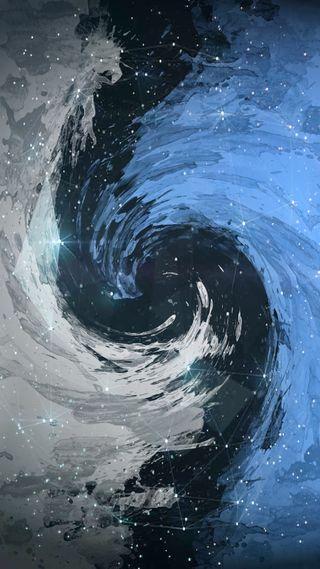 Обои на телефон черные, синие, отверстие, небо, лимит, звезды, звезда, белые, skys, distortion