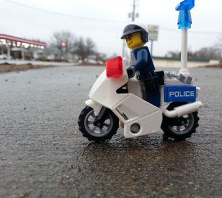 Обои на телефон полиция, мотоциклы, лего, cop
