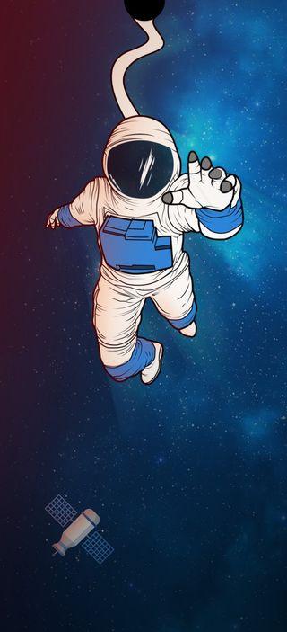 Обои на телефон космос, космонавт, выемка, astronaut in space