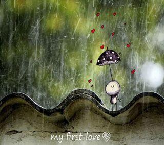 Обои на телефон эмо, чувства, слова, сердце, приятные, первый, мой, милые, любовь, дождь, амбрелла, my first love, love
