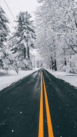 Обои на телефон улица, снег
