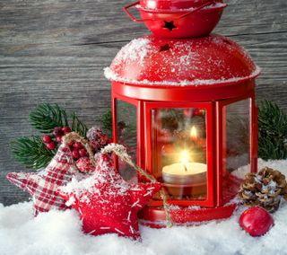 Обои на телефон фонарь, украшение, счастливое, снег, рождество, зима, christmas lantern