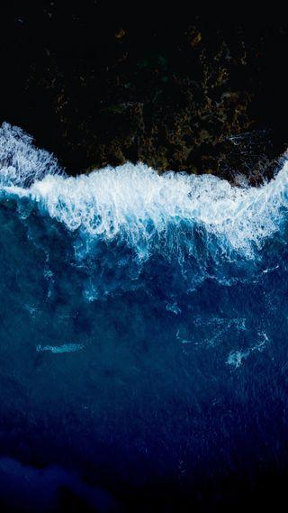Обои на телефон синие, океаны, морские пехотинцы, море, волны, волна, вода, mare