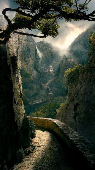 Обои на телефон красота, природа, небо, лес, классные, зеленые, горы, вид, awesome view