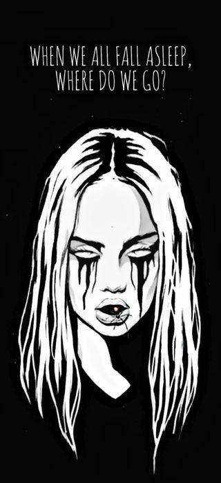 Обои на телефон эмо, эйлиш, черные, темные, песня, музыка, билли, артист, амолед, альбом, billie eilish album, amoled