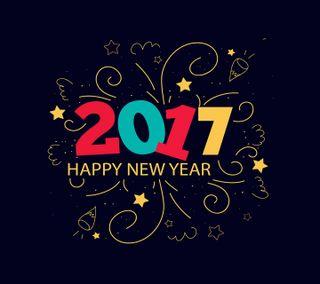 Обои на телефон год, счастливые, новый, happy new year 2017