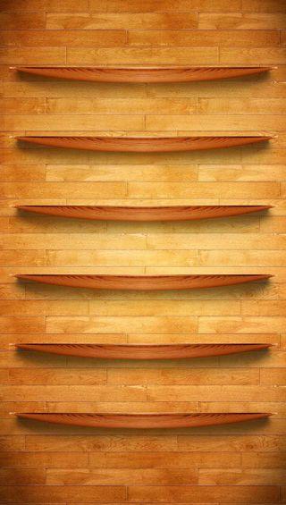 Обои на телефон деревянные, shelf