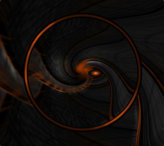 Обои на телефон круги, черные, оранжевые, абстрактные