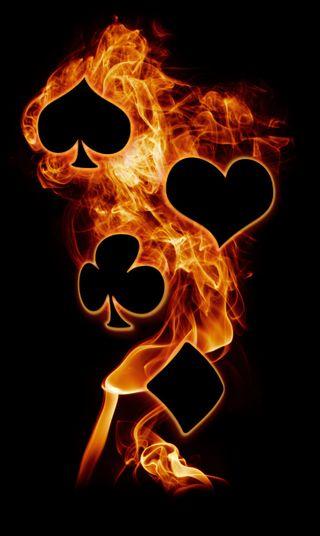 Обои на телефон покер, пок, пламя, крутые, poker flame